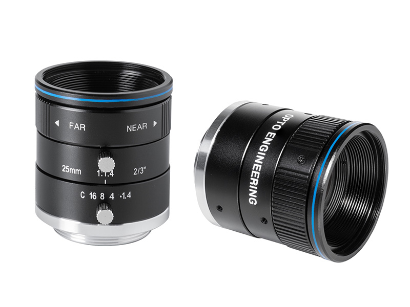 Fixed focal 2 Megapixel lens, focal length 25 mm, f# 1.4 - C, C-mount