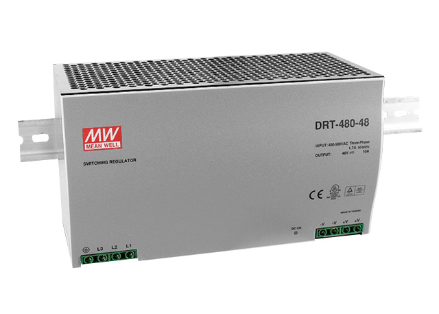 DIN rail power supply 400V ac three phase - 24V dc 480 W