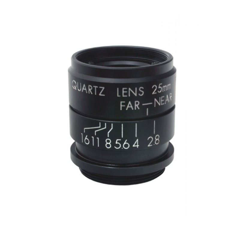 "UV (365 nm) C-mount lens, 25 mm F2.8, for up to 1"" detectors"