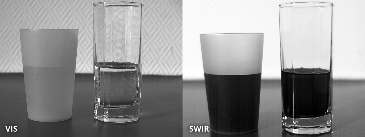 Inspection of liquid levels: SWIR image taken with Opto E SW05020 lens and ABS GmbH SWIR camera IK1523. Image courtesy of ABS GmbH