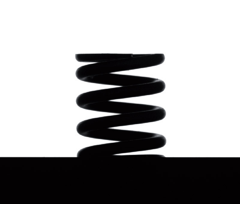 Imaging sample of a coil spring acquired with a telecentric setup