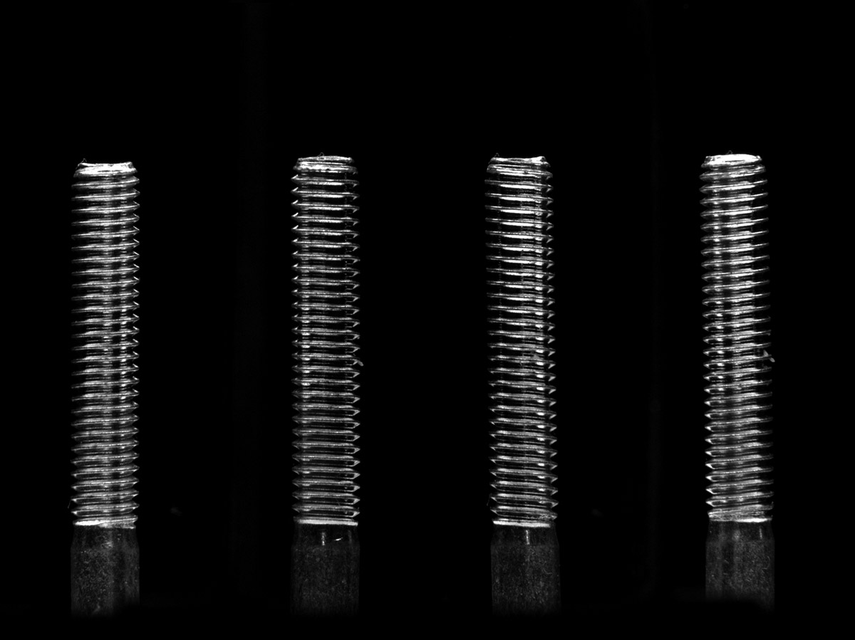 A screw imaged from four sides simultaneously